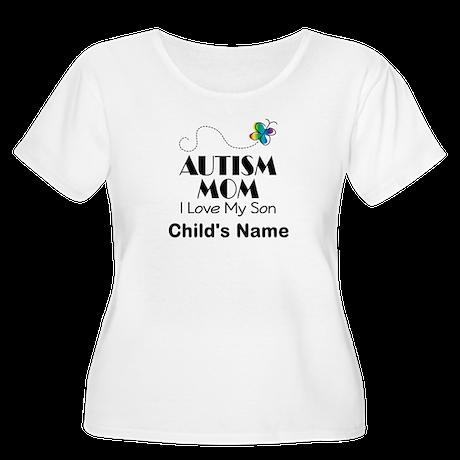 Personalized Autism Mom Women's Plus Size Scoop Ne