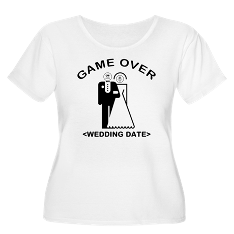 Game Over (Your Wedding Date) Women's Plus Size Sc