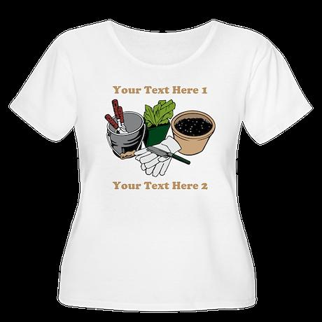 Gardening. Women's Plus Size Scoop Neck T-Shirt