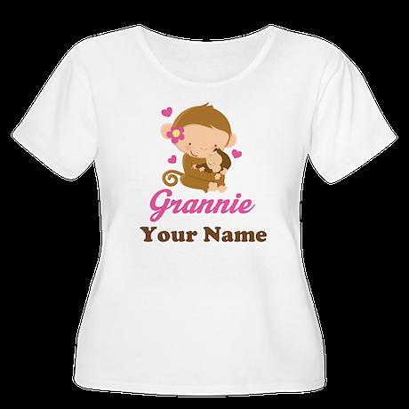 Personalized Grannie Monkeys Women's Plus Size Sco