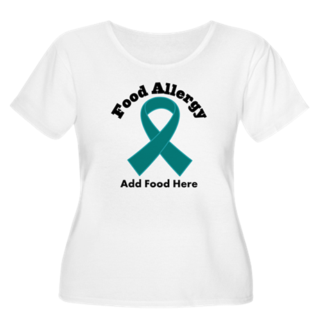Personalized Food Allergy Women's Plus Size Scoop