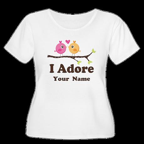 Personalized I Adore Birds Women's Plus Size Scoop