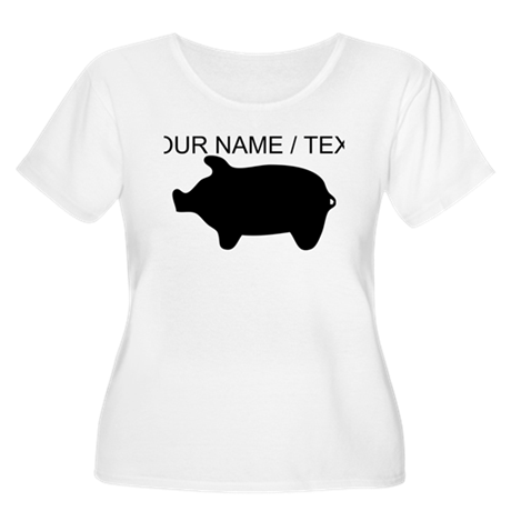 Custom Piggy Silhouette Plus Size T-Shirt