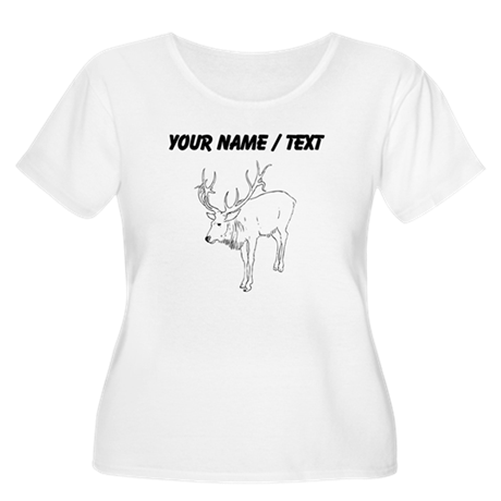 Custom Reindeer Sketch Plus Size T-Shirt