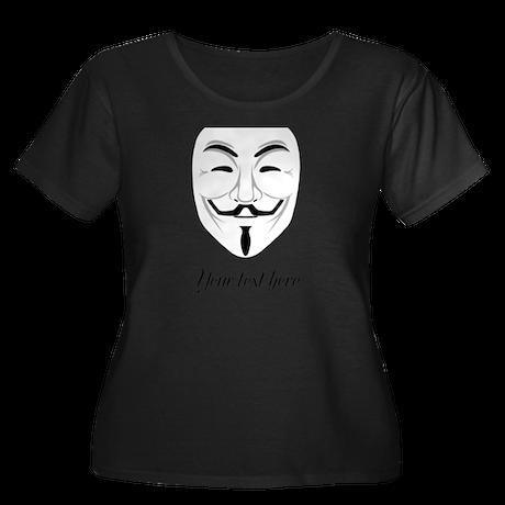 V for Vendetta Women's Plus Size Scoop Neck Dark T