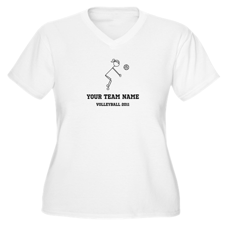 Customizable Volleyball Girl Women's Plus Size V-N