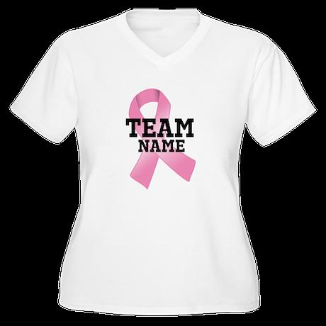Team Name Women's Plus Size V-Neck T-Shirt