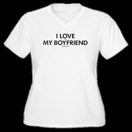 Personalized LOVE Women's Plus Size V-Neck T-Shirt