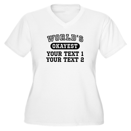 Personalize World Women's Plus Size V-Neck T-Shirt
