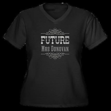 Personalized Future Mrs Women's Plus Size V-Neck D