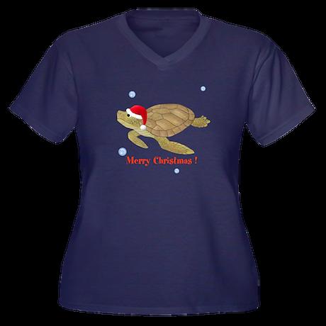 Personalized Christmas Sea Turtle Women's Plus Siz