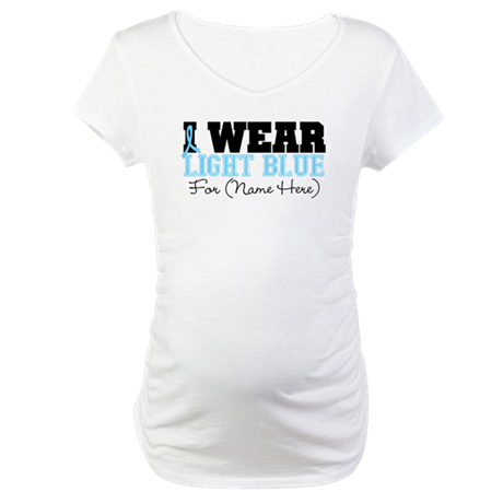 Custom Prostate Cancer Maternity T-Shirt