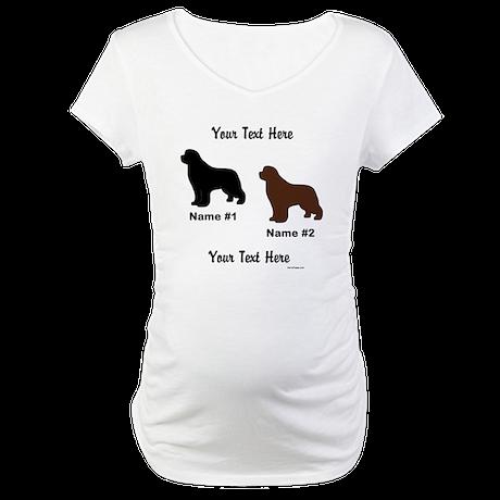 1 Black & 1 Brown Newf Maternity T-Shirt