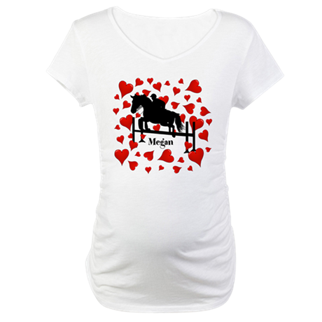 Fun Horse Jumper and Hearts Maternity T-Shirt