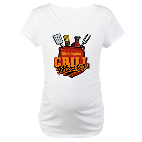 Pocket Grill Master Personalized Maternity T-Shirt