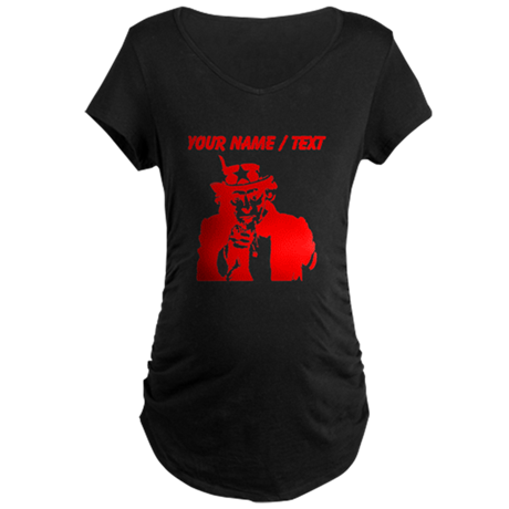 Custom Red Uncle Sam Maternity T-Shirt