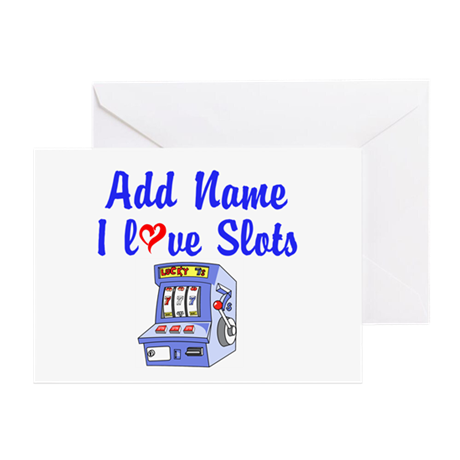 SLOT QUEEN Greeting Card