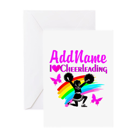 LOVE CHEERING Greeting Card