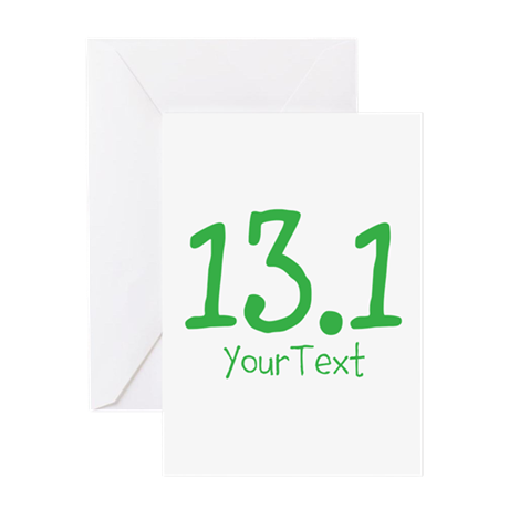 Customize GREEN 13.1 Greeting Cards
