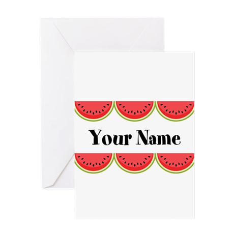 Watermelons Personalized Greeting Card