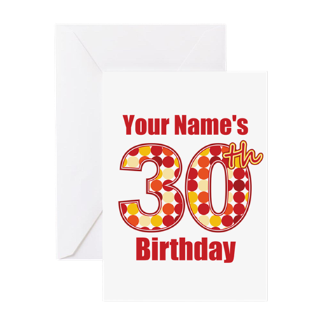 Happy 30th Birthday - Personalized! Greeting Card