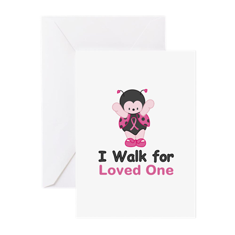 Walk For Ladybug Greeting Cards (Pk of 20)