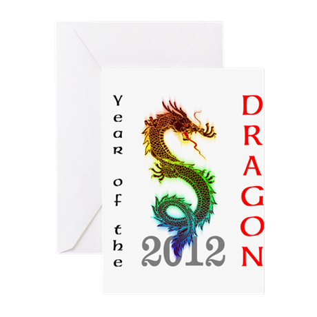 Year of the Dragon 2012 Greeting Cards (Pk of 20)
