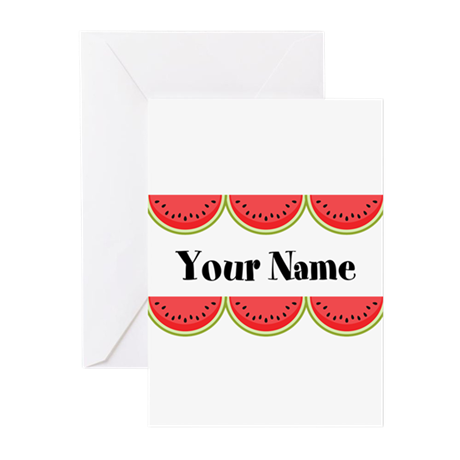 Watermelons Personalized Greeting Cards (Pk of 20)