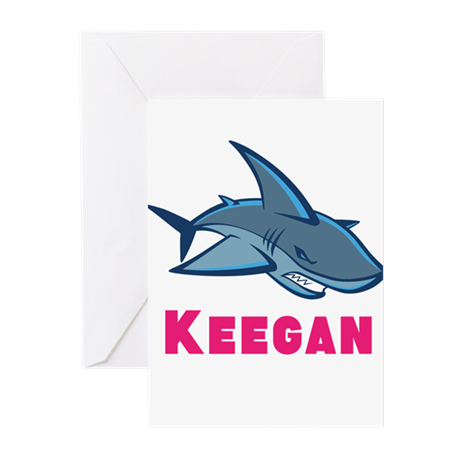 Personalized shark Greeting Cards (Pk of 20)