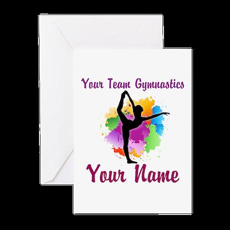 Customizable Gymnastics Team Greeting Cards