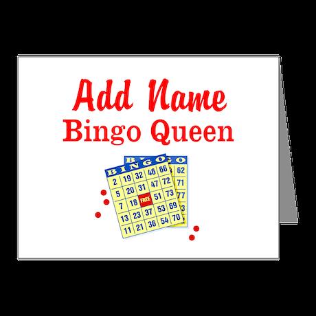 BINGO QUEEN Note Cards (Pk of 10)