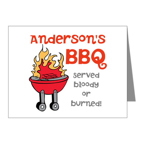 Personalized BBQ Note Cards (Pk of 10)