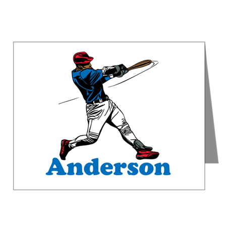 Personalized Baseball Note Cards (Pk of 10)
