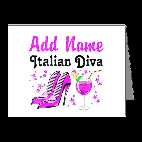 ITALIAN DIVA Note Cards (Pk of 10)