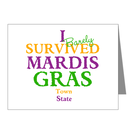 Your Mardis Gras Note Cards (Pk of 10)