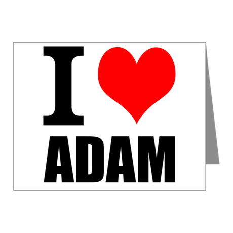 I Heart Adam Note Cards (Pk of 10)