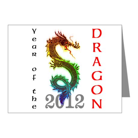 Year of the Dragon 2012 Note Cards (Pk of 10)