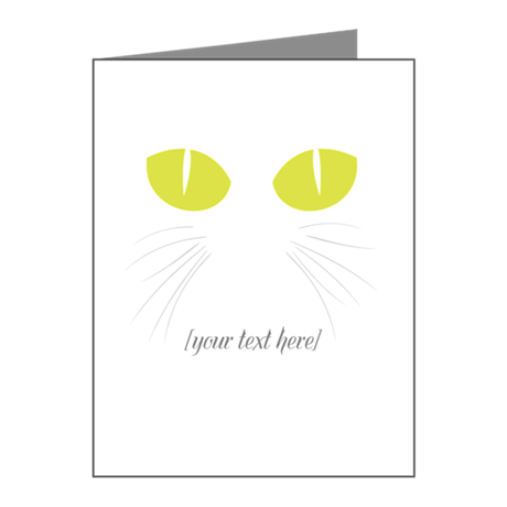 Kitty's eyes [customizable] Note Cards (Pk of 10)