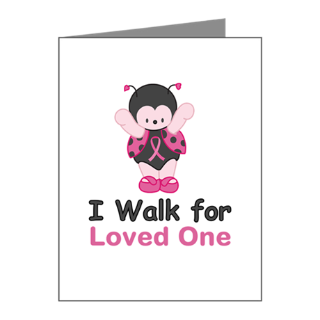Walk For Ladybug Note Cards (Pk of 10)