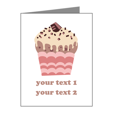 PERSONALIZE Coffee Cupcake Note Cards (Pk of 10)