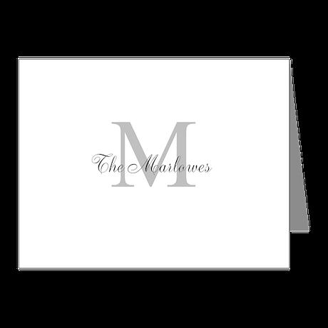 Monogrammed Duvet Cover Note Cards