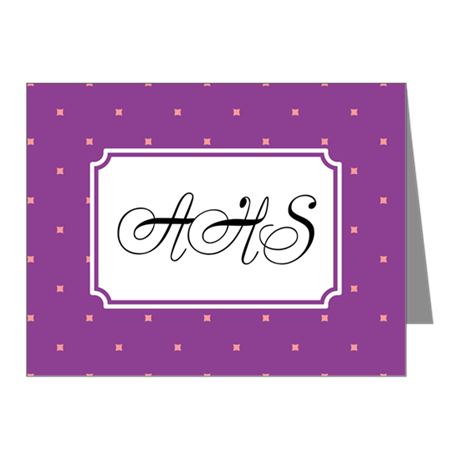 Dots Square Lilac Note Cards (Pk of 10)