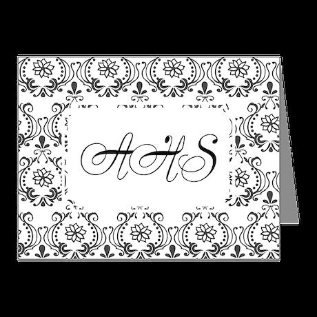 Flourish Romantic BW Note Cards (Pk of 10)