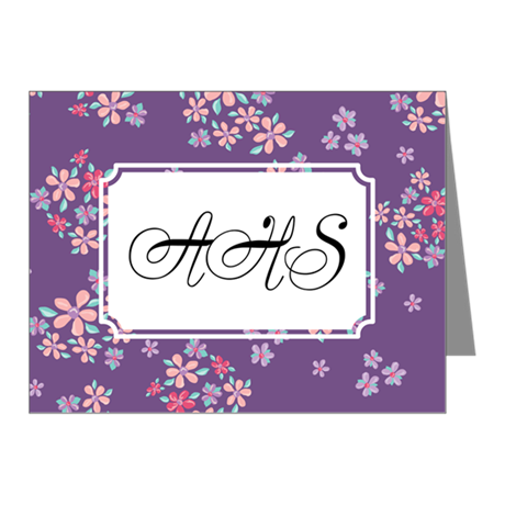 Flower Liberty Purple Note Cards (Pk of 10)
