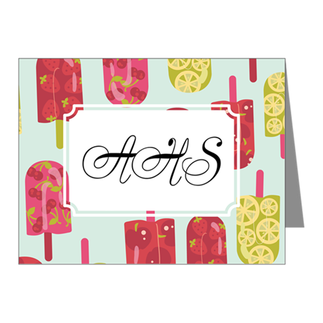Fruit Ice Cream Blue Note Cards (Pk of 10)