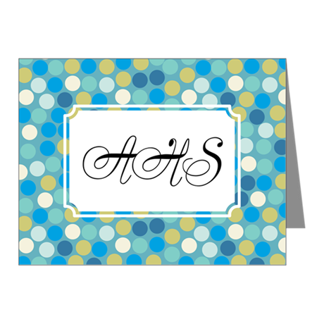 Mosaic Dots Blue Note Cards (Pk of 10)