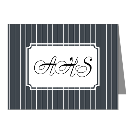 Pinstripe Navy Note Cards (Pk of 10)