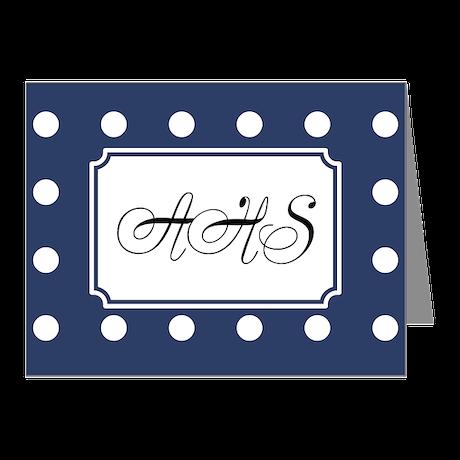 Polka Dots Navy Note Cards (Pk of 10)