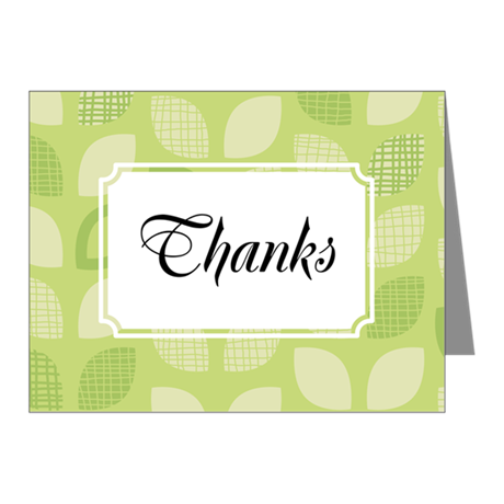Leaves Green Note Cards (Pk of 10)