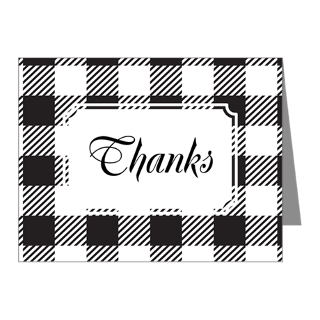 Plaid BW Note Cards (Pk of 10)